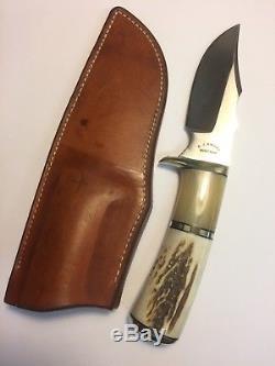 R. J. Knives, Montana, USA Vintage Custom Fixed Blade Bushcraft Hunting Knife