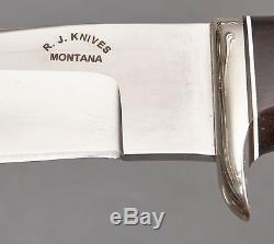 R. J. Montana Knives Knife Custom Hunting Camping Lot # 16