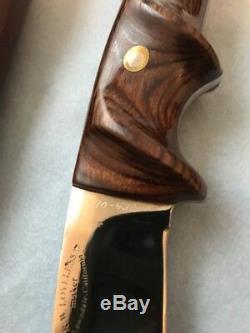 R. W. LOVELESS Knife Maker Lawndale- Gut Hook-Book Knife-letter J. W. Denton