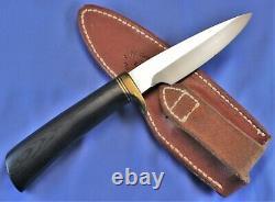 RANDALL 26-4. Black Micarta, Brass &Black Spacers. Pouch Sheath. 90's Mint Knife