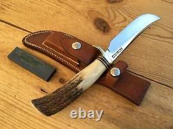 RANDALL MODEL 4-5 BIG GAME SKINNER KNIFE STAG HANDLE VIETNAM WAR ERA c. 1965-1969