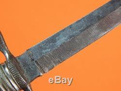 RARE Antique Sweden Swedish J. A. Hellberg Eskilstuna Hunting Knife with Scabbard