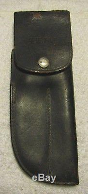 RARE FIND- BUCK Twin Hunting Knives (Knife Set) & Double Leather Flap Sheath