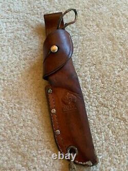 RARE Hunting Knife PUMA Trappers Companion#6385 +Leather Sheath & Original Box