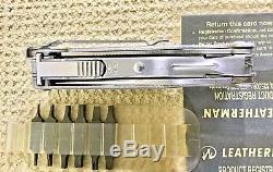 RARE LEATHERMAN Ti 830003 MULTI-TOOL/KNIFE, BOX, HOLSTER, CLIP, EXTRA TOOL BITS