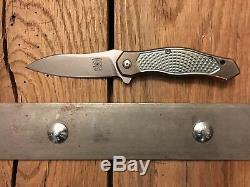 RARE McGinnis Pro Line Mini Exo Titanium Two-Tone Folding Knife