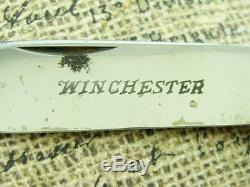 Rare Nm Vintage Winchester USA 4950 Bone Camper Jack Pocket Knife Hunting Knives