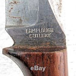 RARE Originial Vintage Hunting Knife Lamplough Trapper Knife Solingen Germany