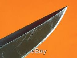 RARE US Custom Hand Made by GEORGE HERRON Fighting Hunting Knife with Sheath