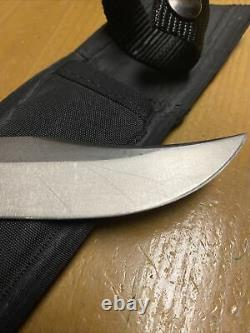 RARE/VINTAGE 1988 Buck 619 WOODSMATE Fixed Blade Knife-WithBlack SheathUSA