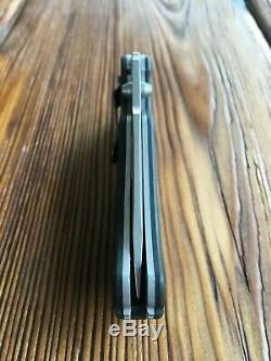 RARE Zero Tolerance 0350 M390 Folding Knife ZT0350M390 Black G10
