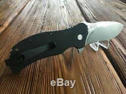 RARE Zero Tolerance 0350 M390 withDeep Carry Clip Folding Knife ZT0350M390