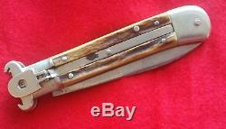 RARE vintage old shell-puller folding hunting pocket knife -Like Hubertus / Puma