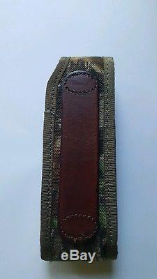 RETIRED LEATHERMAN NEHALEM FOLDING HUNTING KNIFE withGUTHOOK&MATCHING CAMO SHEATH