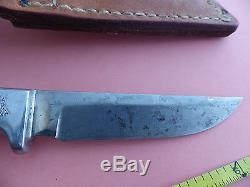 RUANA Bonner Montana Hunting Knife & Sheath US Custom Hand Made