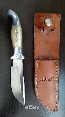 RUANA Bonner Montana Hunting Knife & Sheath US Hand Made