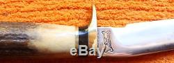 Ralph Bone Custom Knife Stag Hunting Camping Johnson Sheath