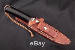 Randall #5 Knife, 6 Nickel Silver Hilt, Micarta Grip, Thong, Compass & Sheath