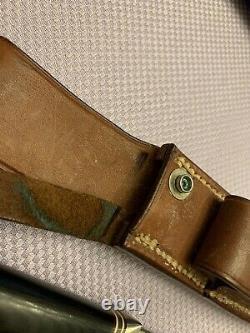 Randall Knife 5-5 Micarta Compass Plain Button Sheath Rough back Mid 80s