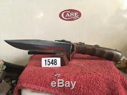 Randall Knife 70s Model 5-6. Burlwood Handle Grey Stone Smooth Btn Near Mint
