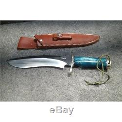 Randall Made Doug Kenefick Bowie Single Finger Style Handle Fixed Blade Knife