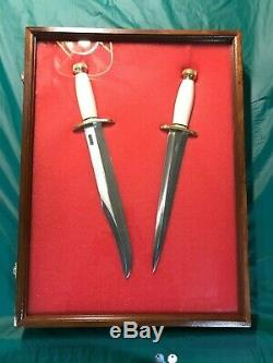 Randall Made Knife, Model 12-13 & Model 13-12 matched pair with display. Mint