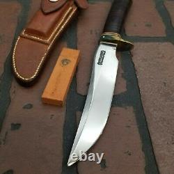 Randall Made Knives #3-6 Johnson Roughback sheath orange stone Preowned Solid