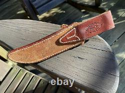 Randall Made Model 3, Early 60s knife, 6 tool steel blade, Brown button sheath