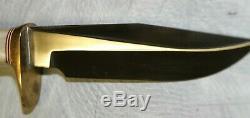 Randall Made Model 5 5 fixed blade, stag handle, plain edge Knife, sheath MINT
