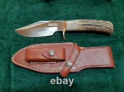 Randall Made knife, model 19-5 Bushmaster-stainless with gorgeous stag handle