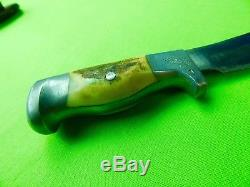 Rare 1944-62 Custom R. H. Rudy Ruana Skinner T Marked 10b Hunting Knife