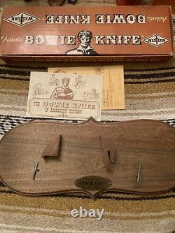 Rare 1965 Stag Western USA W49 Bowie Knife WithOriginal Sheath/Box/Display Plaque
