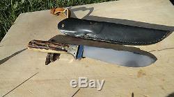 Rare 1969 Vintage PUMA Nicker Handmade Fixed Blade Hunting Knife