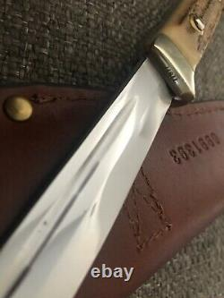 Rare 1970 Puma Buddy Knife 6383 Stag Solingen Germany Hunting With Sheath