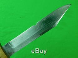 Rare Antique Old US LAMSON & GOODNOW Hunting Stag Knife & Sheath
