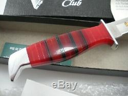 Rare Buck Custom Club Lucite Handle 105 Knife With Sheath Never Used In Box