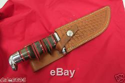 Rare Custom J. W. Baker Mirror Fixed Blade Hunting Knife & Sheath 11 Blade 7
