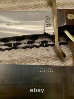 Rare James Bowie Western USA W49 W47 Bowie Knives Set WithSheaths/Case #009/250
