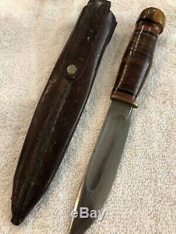 Rare MSA Marbles Ideal Hunting Knife Original Sheath 8 3/4
