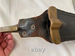 Rare US Model SpringField knife war M 1880 civil hunting knife sheath Ria