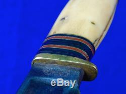 Rare Vintage 1905-09's US M. S. A. Marbles Gladstone MI 4 Pins Stag Hunting Knife