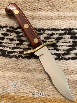 Rare Vintage 1990 Western USA W43 N Mini W49/V44 Bowie Hunting Knife WithSheath