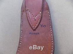 Rare Vintage Clyde Fischer Custom YO Skinner Stag Handle Hunting Knife