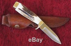 Rare Vintage Dan H Harrison Kershaw USA Klamath Stag Horn Hunting Knife 01556