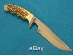 Rare Vintage Henckels Solingen Germany 922 Stag Hunting Skinning Knife Knives Ec