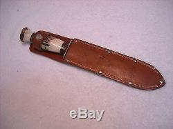 Rare Vintage Marbles USA 11-1/8 Stag Hunting Knife