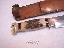 Rare Vintage Marbles USA Large 15 Stag Hunting Knife