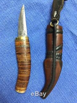 Raunu Vauiniopaa Puukko Scandi Skinning Hunting Knife Hand Made
