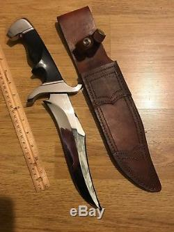 Rod Caribou Chappel Custom Hunting Leopard Combat Bowie Knife Roderick Davis