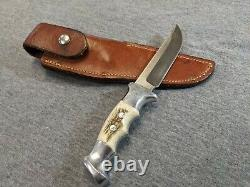 Ruana Bonner 21A Fixed Blade Carbon Steel Stag Handle Hunting Knife 13502-1
